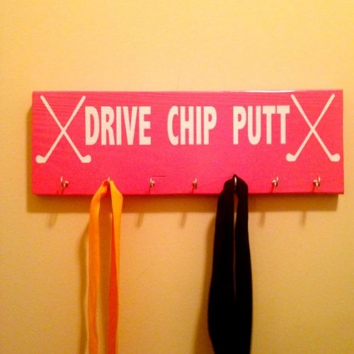 Drive Chip Putt Golf Ribbon or Medal Display