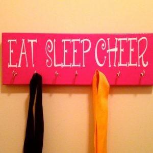 Eat Sleep Cheer Ribbon or Medal Display