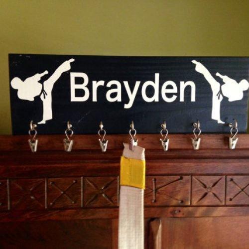 Karate or Taekwondo Belt Display Board