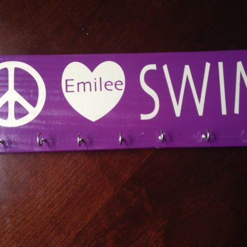 Swim Medal Display Board